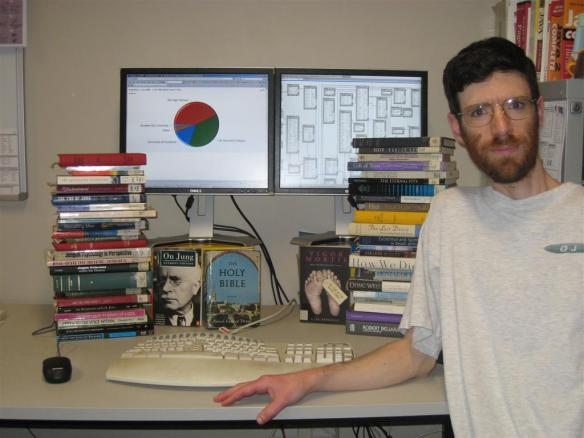 theology and programming in my office, 2008