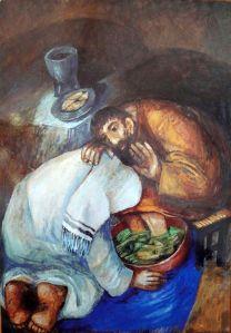Jesus washing feet by Sieger Koder