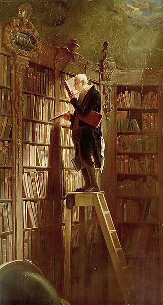 The Bookworm by Carl Spitzweg, 1850