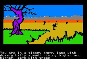 the-hobbit-apple-ii-screenshot-departing-the-shires