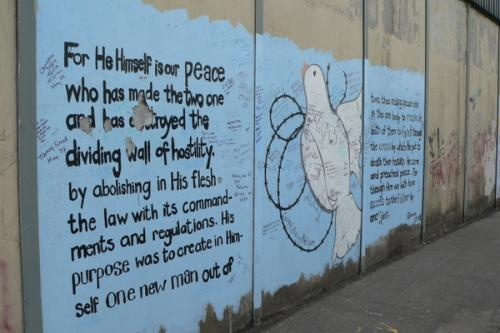 Ephesians 2 on a Belfast Peace Wall