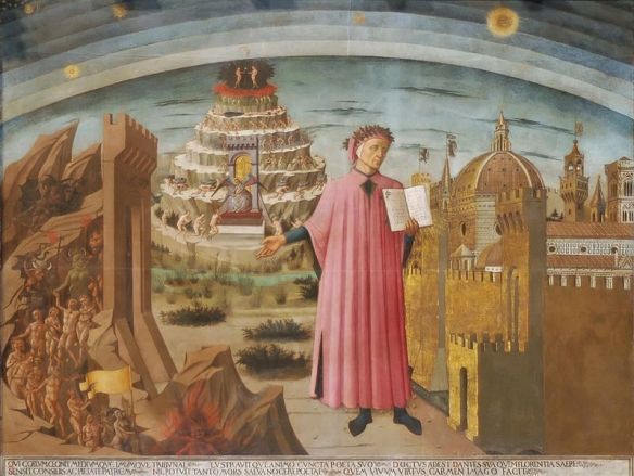 Dante and the Divine Comedy by Domenico di Michelino, 1465