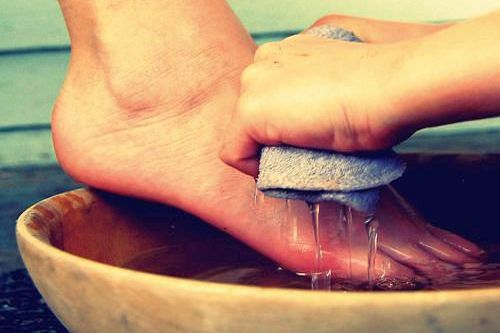 Washing feet in humility