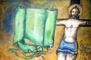 Marc Chagall, 1943, Crucifixion in Yellow