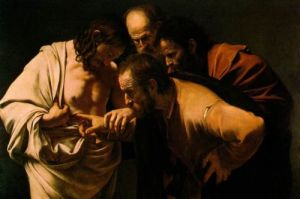 The Incredulity of St Thomas by Caravaggio (1602)